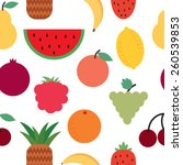 vector pattern with fruit | Shutterstock .eps vector #260539853