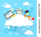 cloud computing technology... | Shutterstock .eps vector #260542730
