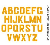alphabet honey vector set.... | Shutterstock .eps vector #260545934