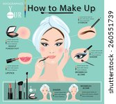 how to make a beautiful woman... | Shutterstock .eps vector #260551739