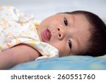 asian newborn baby. | Shutterstock . vector #260551760