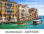 Great water street - Grand Canal in Venice, Italy - stock photo