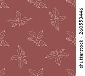 seamless floral hand drawn... | Shutterstock .eps vector #260553446