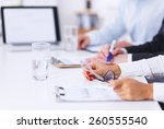 business people working on... | Shutterstock . vector #260555540