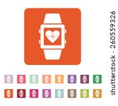 the smart watch icon. fitness... | Shutterstock .eps vector #260559326