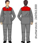 the suit for the woman consists ... | Shutterstock .eps vector #260561300