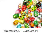 hand painted easter eggs... | Shutterstock . vector #260562554