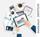 business workplace.flat design.   Shutterstock .eps vector #260579153