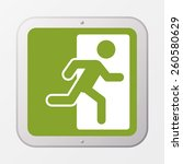 square emergency exit symbol.... | Shutterstock .eps vector #260580629