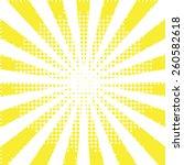 sunbeam yellow halftone... | Shutterstock .eps vector #260582618