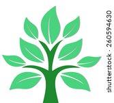 green tree vector illustration...   Shutterstock .eps vector #260594630