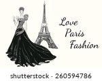 Fashion Girl Hand Drawn...