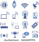 mobile and wireless... | Shutterstock .eps vector #260600990