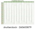 2016 annual planner. spanish... | Shutterstock .eps vector #260603879