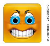 square emoticon angry | Shutterstock . vector #260605340