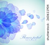 watercolor floral round...   Shutterstock .eps vector #260611904