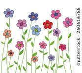 fiveteen isolated flowers | Shutterstock .eps vector #260616788