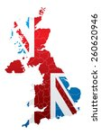 united kingdom map with flag | Shutterstock .eps vector #260620946