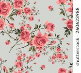 seamless pattern of vintage... | Shutterstock . vector #260623988