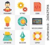 vector web development  seo ...