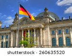 the reichstag building in... | Shutterstock . vector #260635520