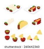 a vector illustration of tasty... | Shutterstock .eps vector #260642360