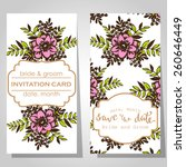wedding invitation cards with... | Shutterstock .eps vector #260646449