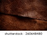 Постер, плакат: Dark Brown Leather Cut