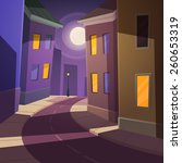 night city street. | Shutterstock .eps vector #260653319