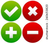 simple checkmark  cross and... | Shutterstock .eps vector #260653820