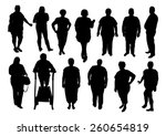illustration of silhouette fat... | Shutterstock .eps vector #260654819