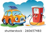 car at a gas station | Shutterstock .eps vector #260657483