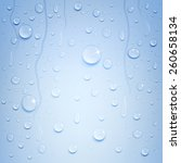 variety of water drops on a... | Shutterstock .eps vector #260658134