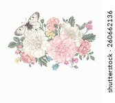 Floral Background. Card With A...