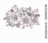 floral background. card with a... | Shutterstock .eps vector #260662148