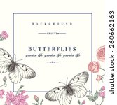 Vector Card With Butterflies...