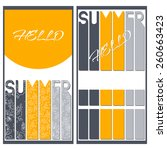 set of two summer colorful...   Shutterstock .eps vector #260663423