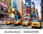 new york city   dec 01 times... | Shutterstock . vector #260665448