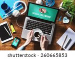 social network user profile... | Shutterstock . vector #260665853