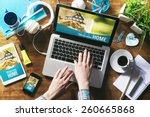 real estate website mock up on... | Shutterstock . vector #260665868