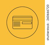 credit card vector thin icon