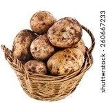Potatoes Heap In Basket...