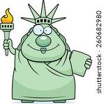 a cartoon illustration of the... | Shutterstock .eps vector #260682980