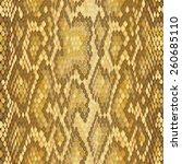 snake skin seamless vector ... | Shutterstock .eps vector #260685110