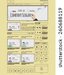 website template and a set of...
