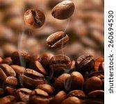 coffee beans  close up | Shutterstock . vector #260694530