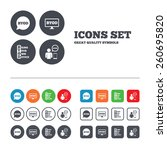 byod icons. human with notebook ... | Shutterstock .eps vector #260695820