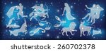 astrological constellation of... | Shutterstock .eps vector #260702378