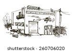 vector hand drawn detailed... | Shutterstock .eps vector #260706020