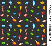 stylized isometric cubic candy... | Shutterstock .eps vector #260709080
